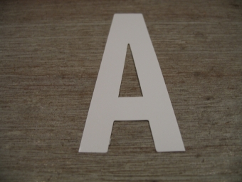 "Duikgoed Letter Sticker wit ""A"""