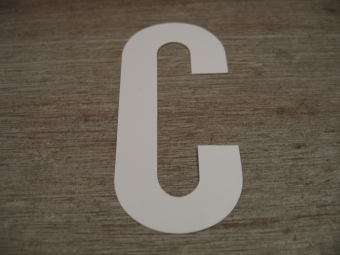 "Duikgoed Letter Sticker wit ""C"""