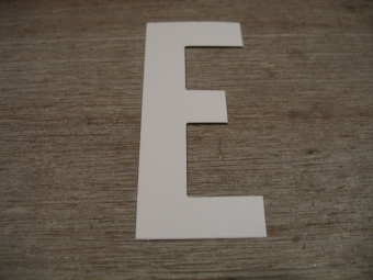 "Duikgoed Letter Sticker wit ""E"""