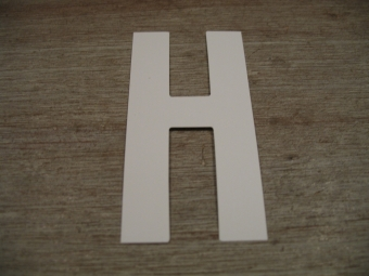 "Duikgoed Letter Sticker wit ""H"""