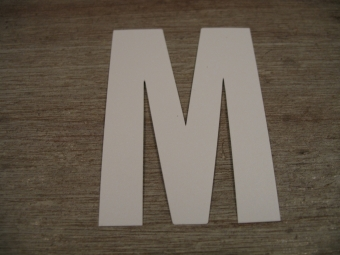 "Duikgoed Letter Sticker wit ""M"""