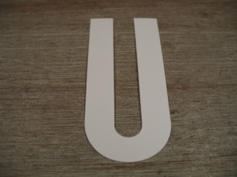 "Duikgoed Letter Sticker wit ""U"""
