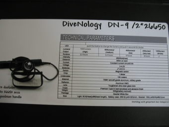 Kabel duiklamp Divenology DN9 / 2x 26650