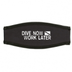 Masker strap cover zwart Dive Now